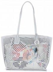 Univerzální Dámské kabelky s kosmetikou David Jones ažurová Světle šedá
