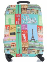 Obal na kufr Snowball M size Paris vícebarevný