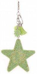 Přívěšek ke kabelce Hvězdička s křišťálky Super Star Zelená