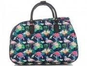 Malá cestovní taška kufřík Or&Mi Plameňáci Multicolor - Tmavě modrá
