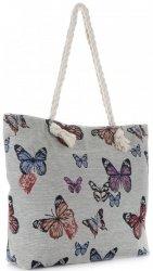 Plážová dámská kabelka Butterfly Vícebarevný - béžová