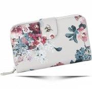 Módní Dámská peněženka Diana&Co Firenze květinový vzor Béžová
