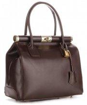 Kožené kabelky kufříky Genuine Leather čokoláda