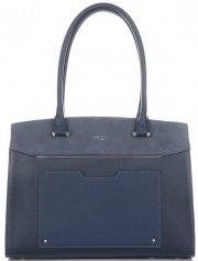 Elegantní Dámská kabelka kufřík David Jones tmavě modrá
