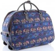 Cestovní taška na kolečkách s výsuvnou rukojetí Egyptští sloni Or&Mi multicolor Tmavě Modrá