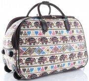 Cestovní taška na kolečkách s výsuvnou rukojetí Egyptští sloni Or&Mi multicolor béžová