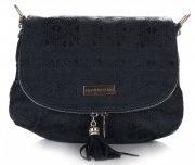 kožená kabelka listonoška Vittoria Gotti tmavě modrá