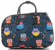 Velká cestovní taška kufřík Or&Mi vzor v sovy Multicolor - Mořská