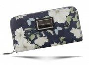 Dámská Peněženka XL Diana&Co vzorek v květinách Multicolor Tmavě Modrá