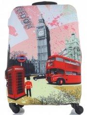 Obal na kufr Snowball M size London vícebarevný růžová