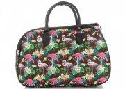 Malá cestovní taška kufřík Or&Mi Plameňáci Multicolor - Hnědá