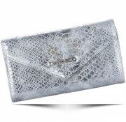 Elegantní Dámská peněženka Diana&Co Firenze hadí vzor stříbrná