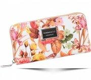 Módní Dámská peněženka Diana&Co Firenze květinový vzor oranžová