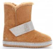 Dámské boty sněhule zrzavé