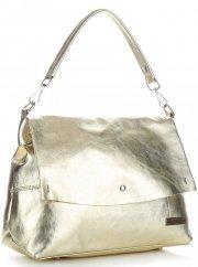 Elegantní kožené kabelky Vittoria Gotti zlatá