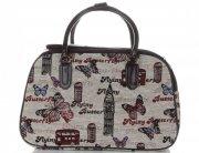 MALÁ cestovní taška kufřík Or&Mi Butterfly Multicolor - béžová