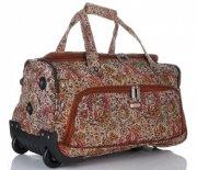 Cestovní taška na kolečkách s teleskopickou rukojetí renomované firmy Madisson Multicolor - Čokoláda