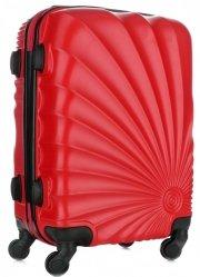 Módní Palubní kufřík Or&Mi 4 kolečka červená