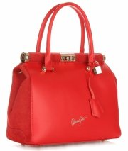 Kožené kabelky kufříky VITTORIA GOTTI červená