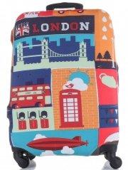 Obal na kufr Snowball M size London vícebarevný oranžová