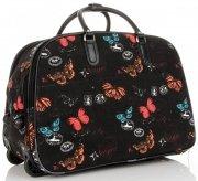 Cestovní taška na kolečkách s výsuvnou rukojetí motýli Or&Mi multicolor černá