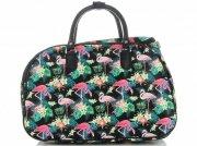 Malá cestovní taška kufřík Or&Mi Plameňáci Multicolor - černá