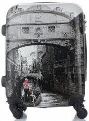Palubní kufřík Or&Mi silniční značky 4 kolečka Multicolor Šedý