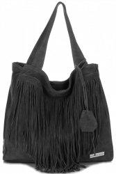 Dámské kabelky Vittoria Gotti Univerzální XL Boho Černá