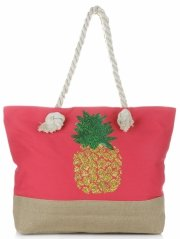 Plážová dámská kabelka červená
