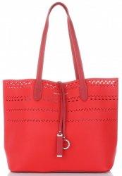 Univerzální Dámské kabelky s kosmetikou David Jones Ažurová Červená