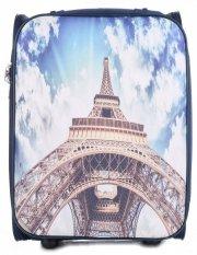 Palubní kufřík italské firmy Or&Mi 2 kolečka Tmavě modrá Paris