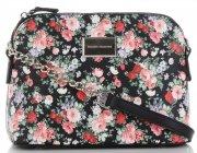 Modna Listonoszka w motyw kwiatów marki Diana&Co Multikolor Czarna