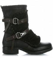 Botki Damskie firmy Crystal Shoes Czarne