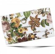 Modny Portfel Damski Diana&Co Firenze wzór Kwiatów Beżowy