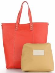 Vittoria Gotti Firmowy Shopper Made in Italy z Kosmetyczką Malina