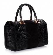 Elegancki kufer skórzany Aligator Czarny