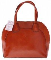 Torebka skórzana Włoski kuferek Genuine Leather Rudy