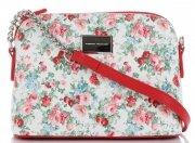 Modna Listonoszka w motyw kwiatów marki Diana&Co Multikolor Czerwona