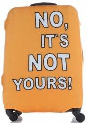 Pokrowiec na Walizkę firmy Snowball w rozmiarze L No its not yours Pomarańcz