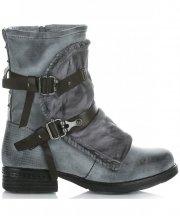 Botki Damskie firmy Crystal Shoes Szary