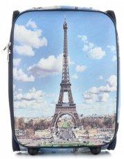 Walizka Kabinówka Włokiej Firmy Or&Mi 2 kółka Multikolorowa Paris 3