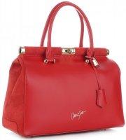 Ekskluzywny Kufer Skórzany Vittoria Gotti w rozmiarze XXL Czerwony