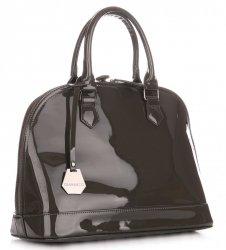 Elegantní Dámská kabelka kufřík Diana&Co Tmavě šedá