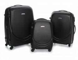 Solidní, prostorná sada kufrů 3 v 1 David Jones cčerný