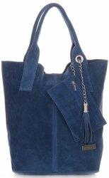 Kožené kabelky Vittoria Gotti Shopper bag Jeans