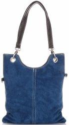 Kožené kabelky listonošky Modrá - Jeans