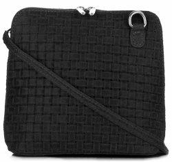 Malé kožené kabelky listonošky Genuine Leather černá