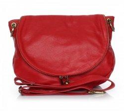 Dámská kožená kabelka listonoška – vysoká kvalita červená