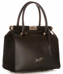 Kožené kabelky kufříky VITTORIA GOTTI černý