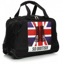 Cestovní taška na kolečkách s teleskopickou rukojetí renomované firmy Davi jones černá